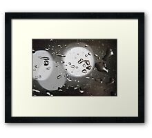 Water drops Framed Print