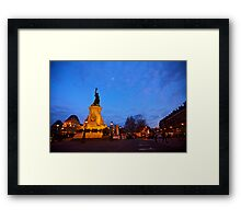 Place de la Republique at Night Framed Print