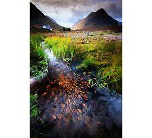 Lagangarbh stream, Glencoe, Argyll Photographic Print