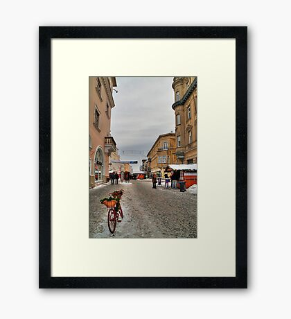 Street for pedestrians Framed Print