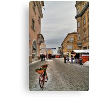 Street for pedestrians Canvas Print