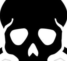 Crossed paddles skull Sticker