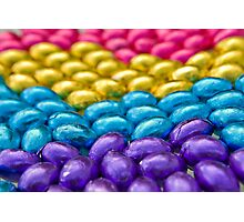 Coloured Chocolate Egg Collection Photographic Print
