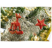 Christmas Toys on a Tree Poster