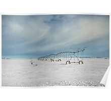 Irrigation Pivot in Snow Poster