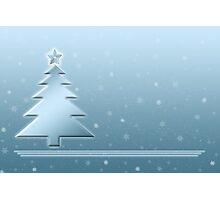 Ice Blue Christmas Scene Photographic Print