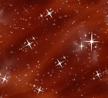 Red Night Sky & Stars by clearviewstock