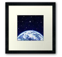 Earth & Space Framed Print