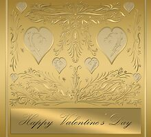 Happy Golden Valentine's Day by clearviewstock