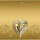Delicate Golden Heart by clearviewstock