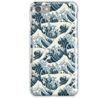 The Great Wave off Kanagawa - seamless pattern iPhone Case/Skin
