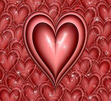 Red Floating Hearts by clearviewstock
