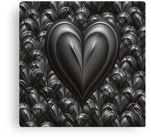 Strong Love - Solid Heart Canvas Print
