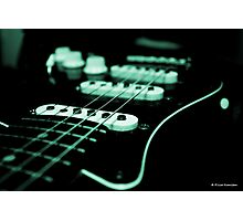 Green Glow Strat Photographic Print