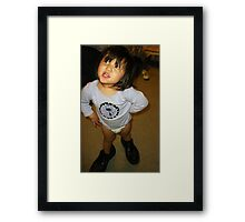 Filling My Shoes Framed Print
