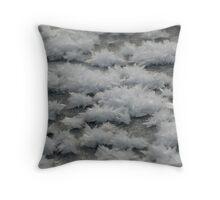 Frost Flash Lake Throw Pillow