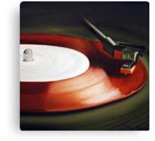 Record Red Canvas Print
