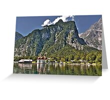 St. Bartholomew's Church - Königssee Lake - Germany Greeting Card
