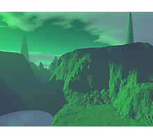 Emerald Planet Photographic Print