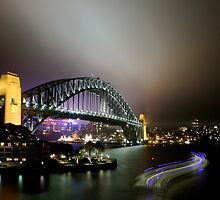 Sydney Harbour Bridge by Night by simbachee