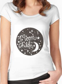 Moon Child Women's Fitted Scoop T-Shirt