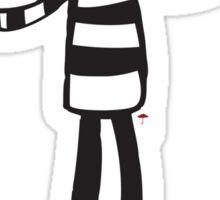 Zombie mime Sticker