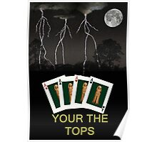 Four Aces Your the Tops Poster