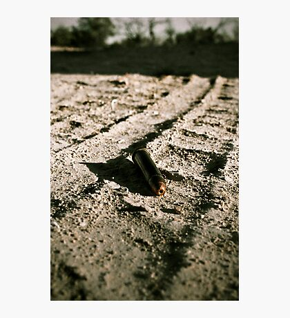 Bullet in the dirt - hunting trip Photographic Print