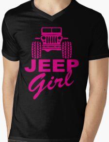 Jeep Girl Mens V-Neck T-Shirt