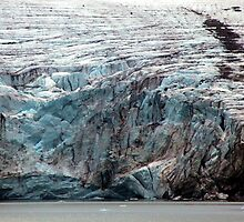 Brepollen Glacier close up by John Dalkin