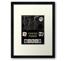 Casino Poker, Poker Cards Framed Print
