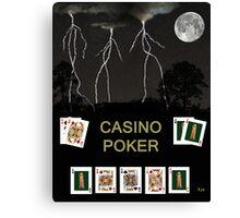 Casino Poker, Poker Cards Canvas Print