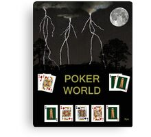 Poker World, Poker Cards Canvas Print