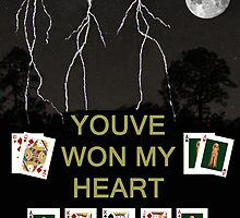 Youve Won My Heart, Poker Cards by Eric Kempson