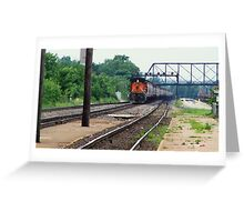 On track... Greeting Card