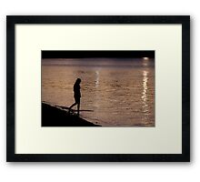 Just a moment Framed Print