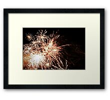 New Years fireworks on a cold night Framed Print