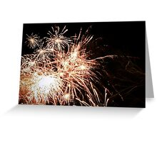 New Years fireworks on a cold night Greeting Card
