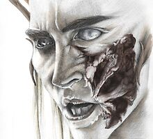 Thranduil - Partial Color by GraphitePusher