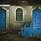 Shadowed Blue Door And Window by Josh Wentz