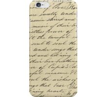 Hand written love poem iPhone Case/Skin