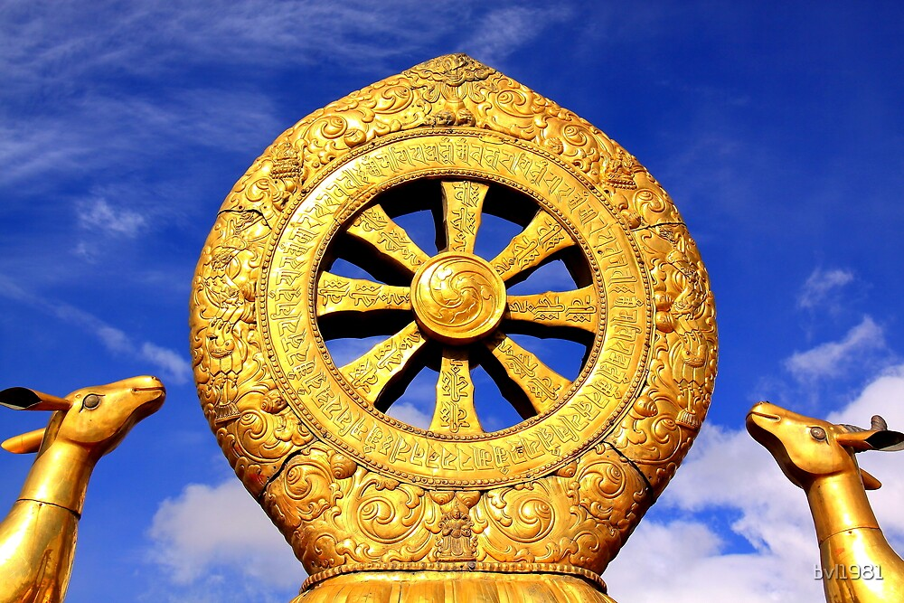 Dharma Wheel in Jokhang Temple by bvl1981