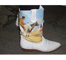Cowboy? Boot Photographic Print