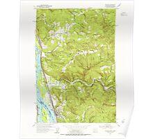 USGS Topo Map Washington Kalama 241724 1953 24000 Poster