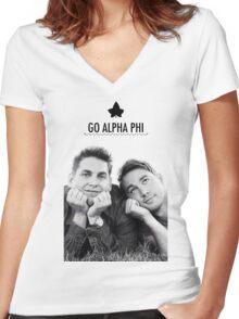 Go Alpha Phi Women's Fitted V-Neck T-Shirt