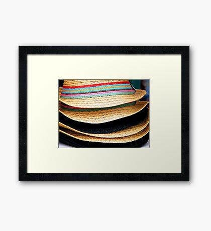 Holiday Hats Framed Print