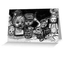 Death is in the Room! Greeting Card