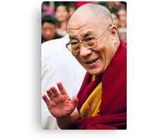 His Holiness the Dalai Lama. northern india Canvas Print