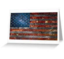 American Flag Galaxy Greeting Card