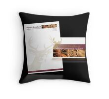 Stationery Design for Forest Produce Throw Pillow